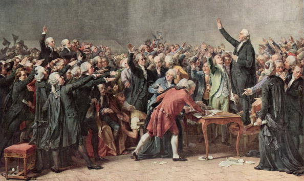 how were the tennis court oath and the american declaration of independence similar how were they di